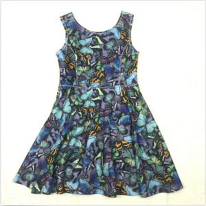 1989 Place 10-12 Girls Dress Butterfly Print
